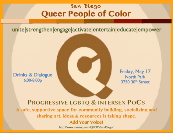 San Diego QPOC Meet Up Flyer