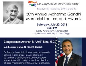 30th Annual Gandhi Memorial Lecture