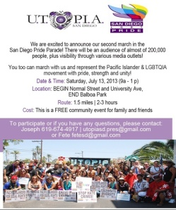 NAPAWF-SD to March with UTOPIA San Diego