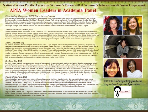 AAPI Women in Academia Panel Flyer